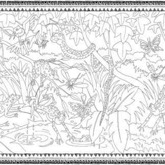 Frogs and Snakes Colouring Wall - 200cmx120cm